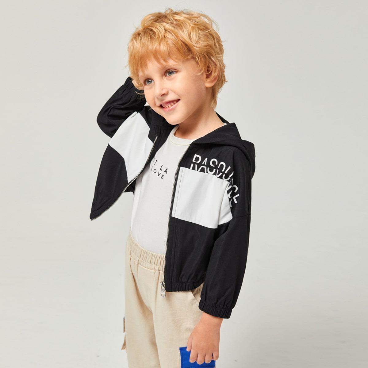 На молнии буква повседневный куртки для мальчиков
