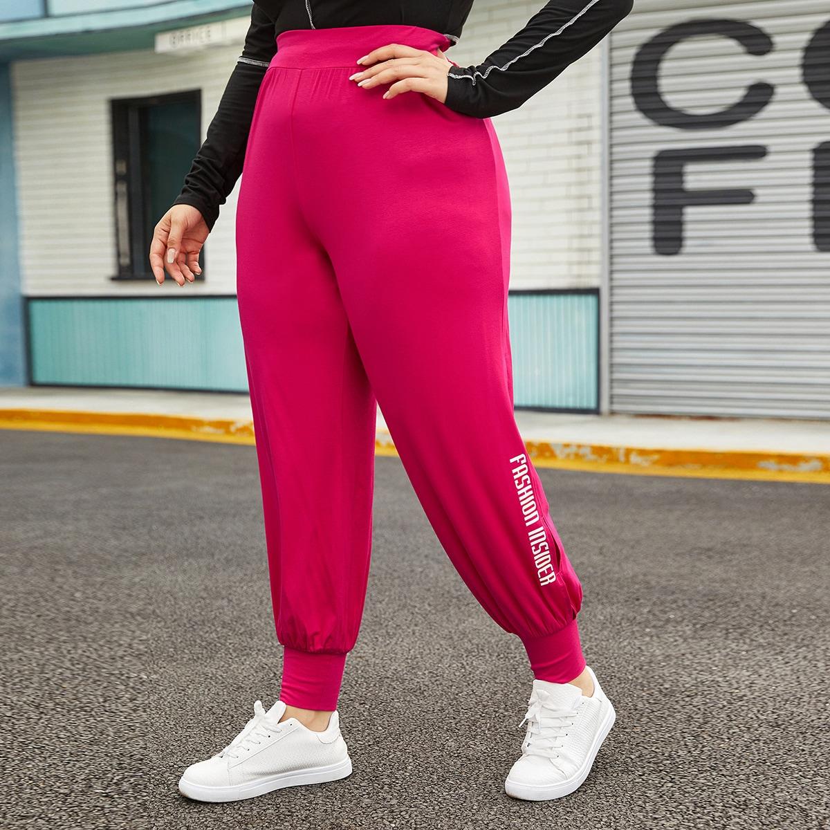 Буква спортивный брюки размер плюс
