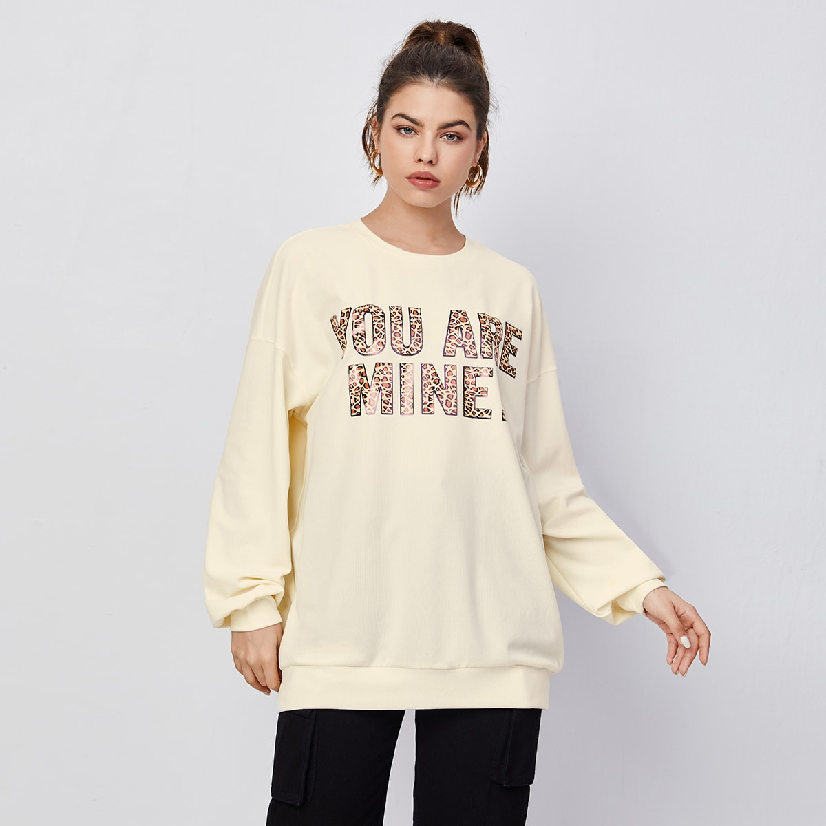 SHEIN Casual Slogan Sweatshirt