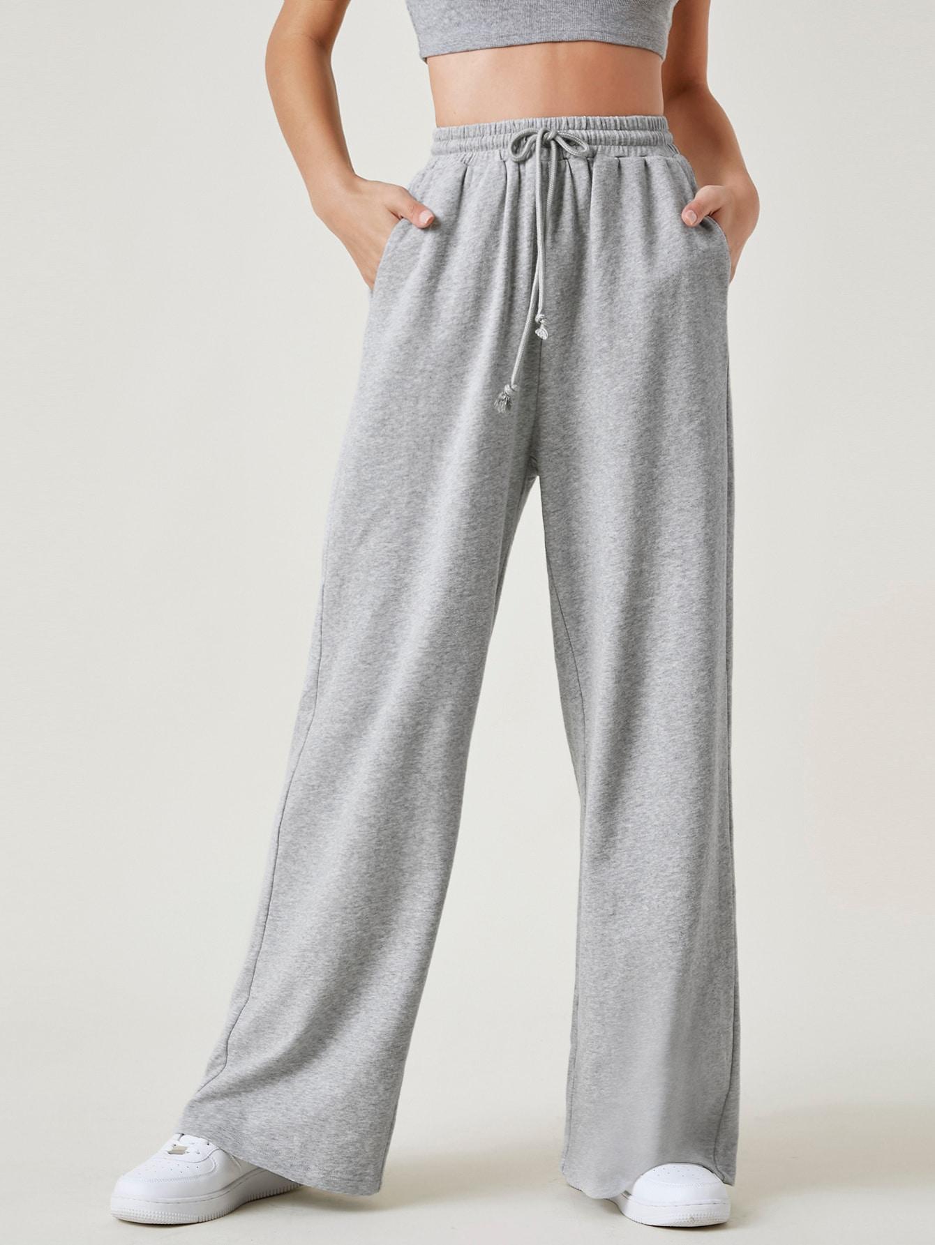 Wide Leg Drawstring Waist Pants thumbnail