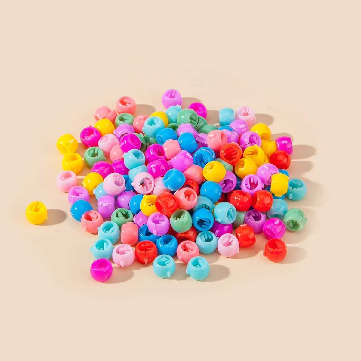 100 Stücke Kleinkind Mädchen Einfarbige Haarklammer