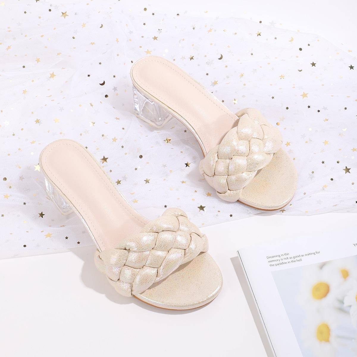 Одноцветный сандалии/босоножки