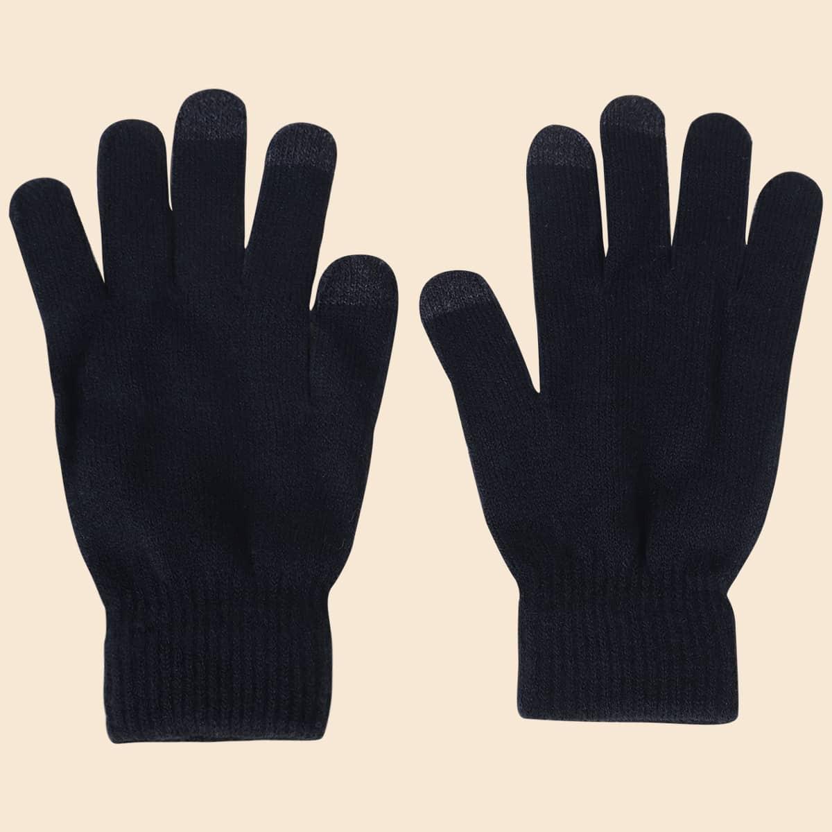 Männer Strick Fünf-Fingerhandschuhe