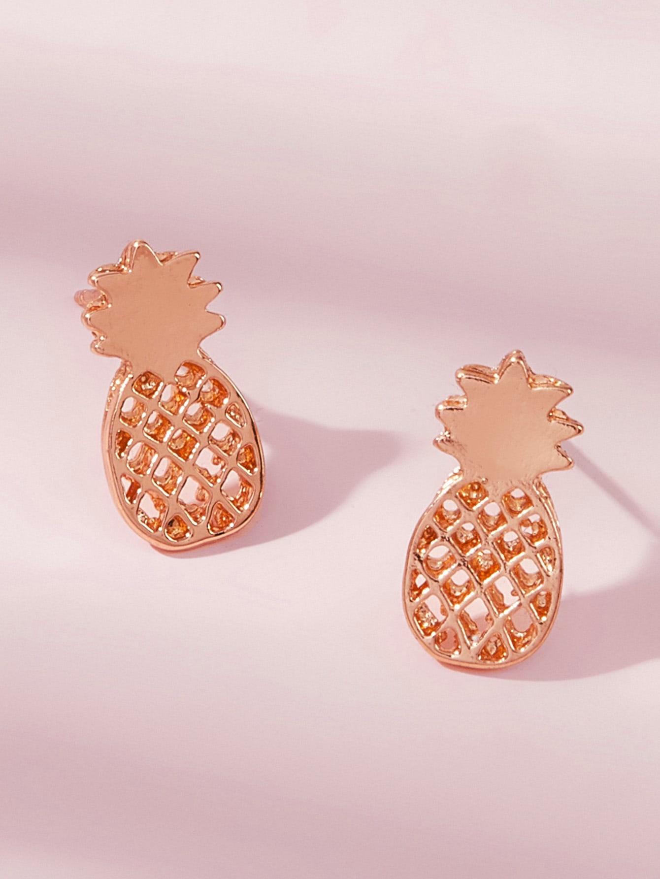 Pineapple Design Stud Earrings thumbnail