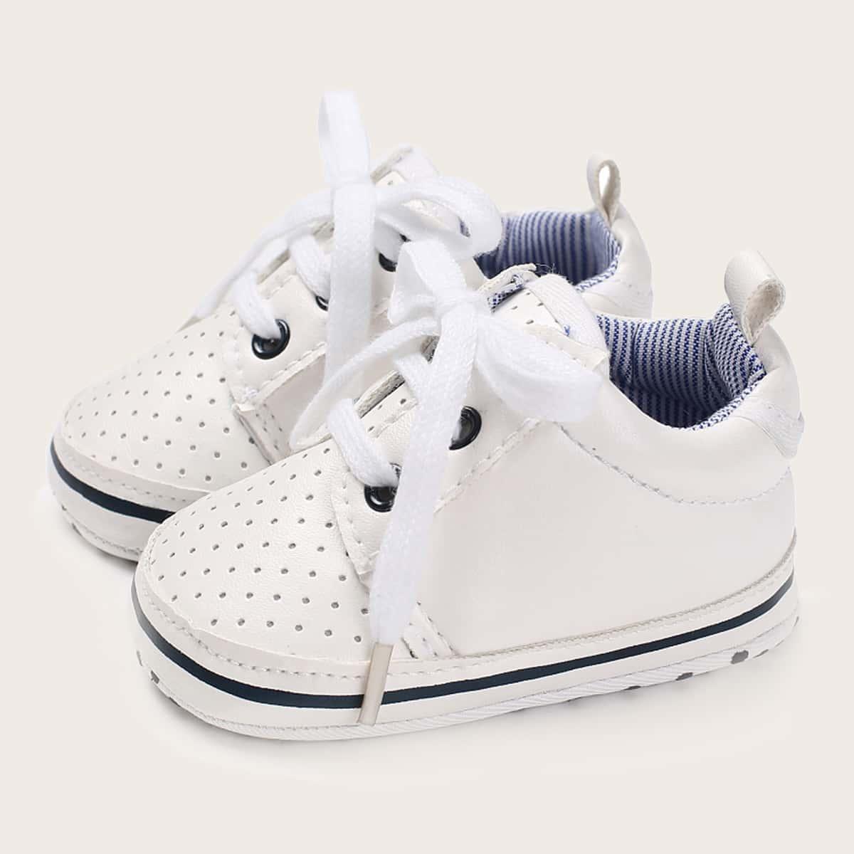 На шнурках одноцветный кроссовки для малышей