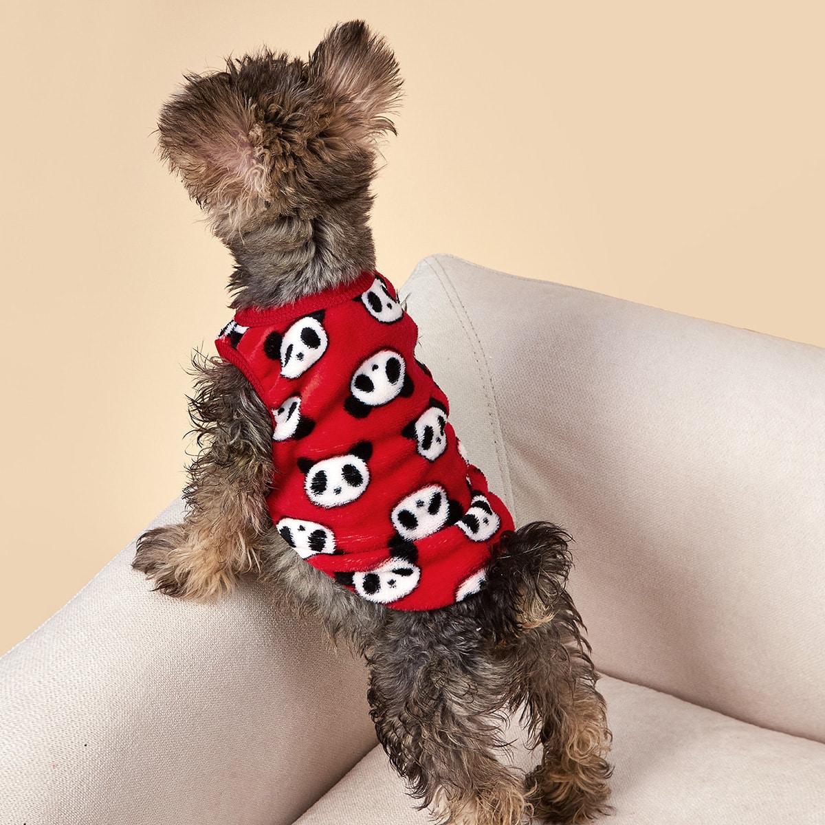 Tank Top mit Panda Muster für Hunde