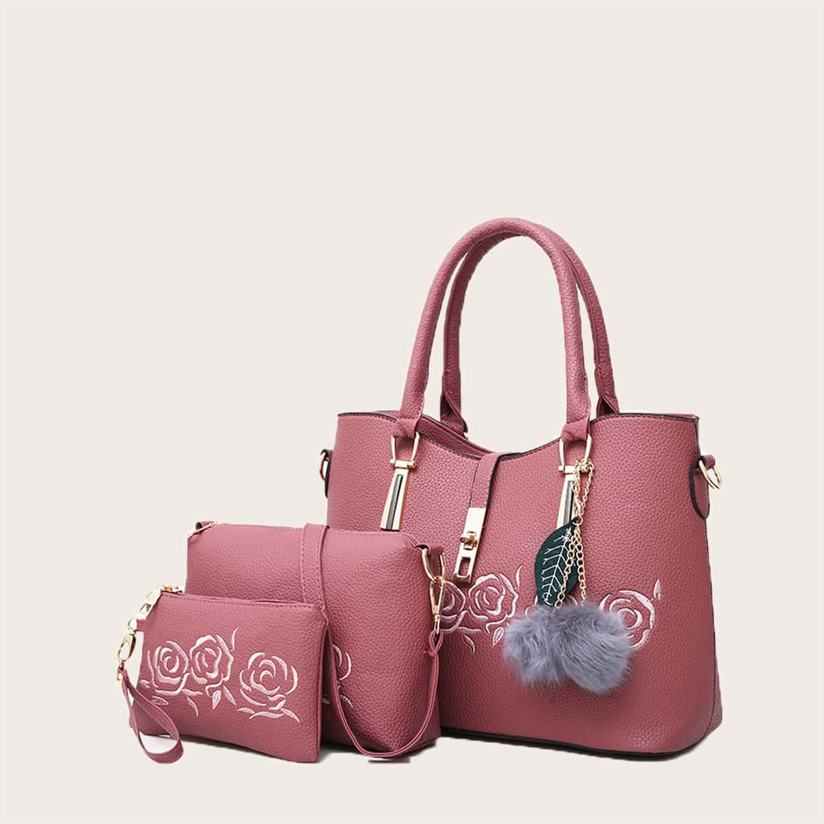 Регулируемый Помпон Со цветочками Набор сумок