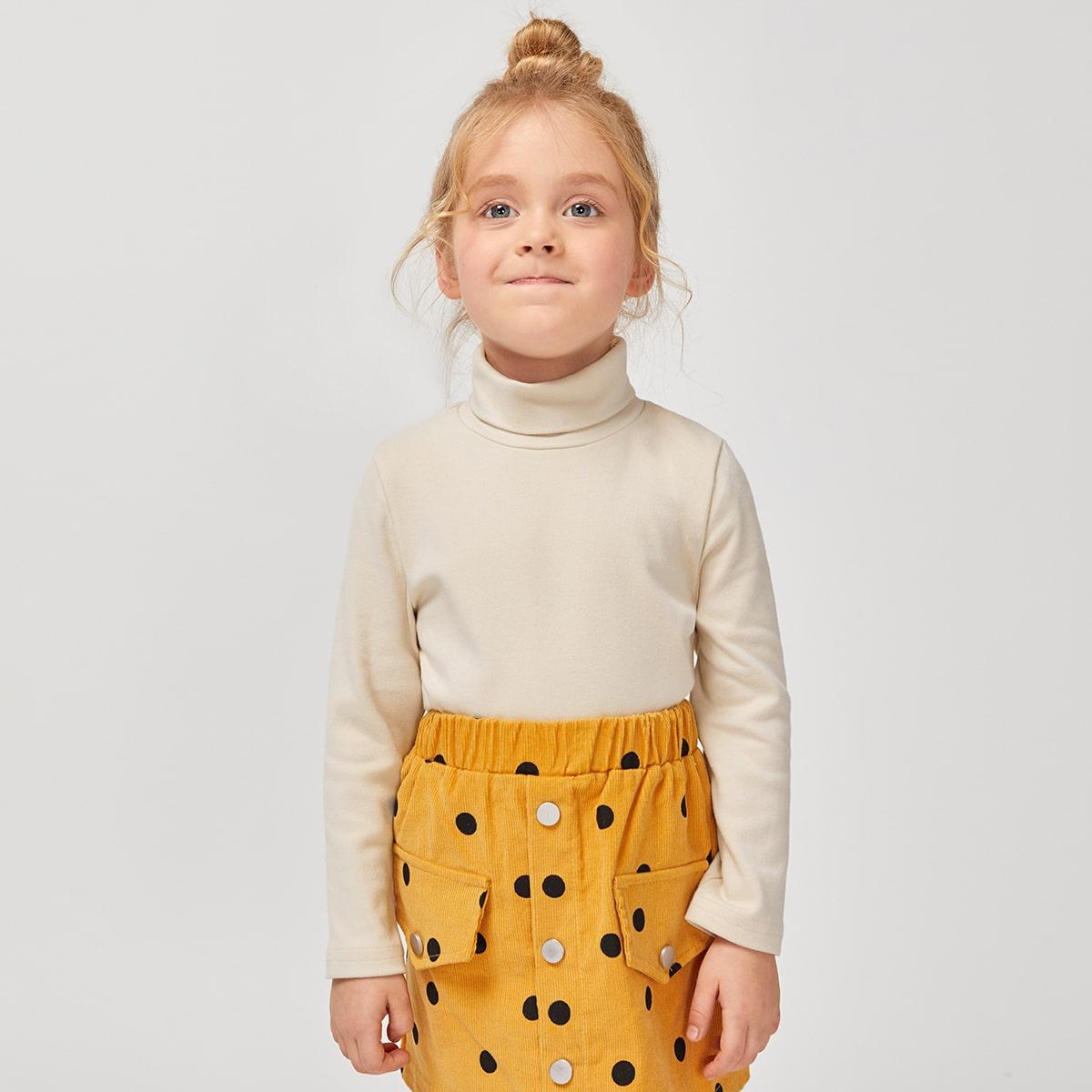 Одноцветный основы футболки для маленьких девочек