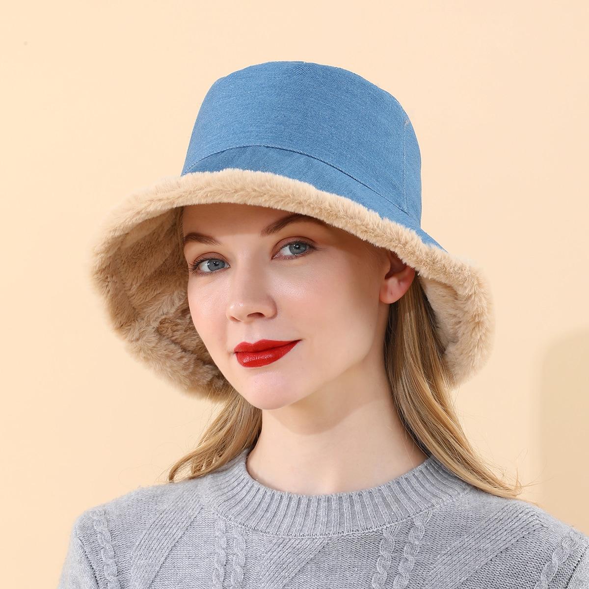 Шляпа с искусственным мехом