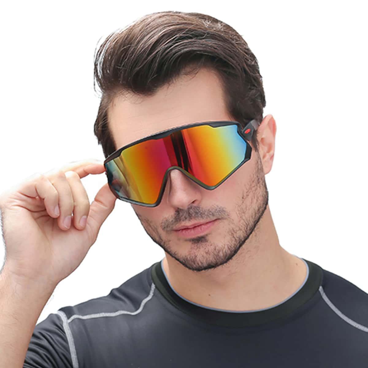 Men Colorful Lens Sunglasses