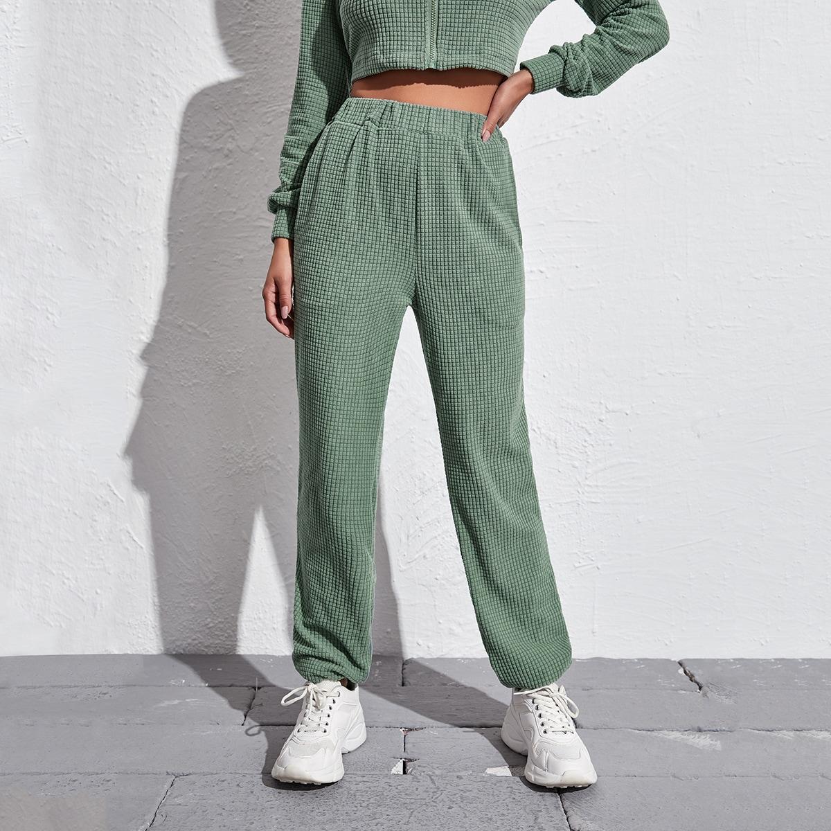 Карман одноцветный повседневный брюки
