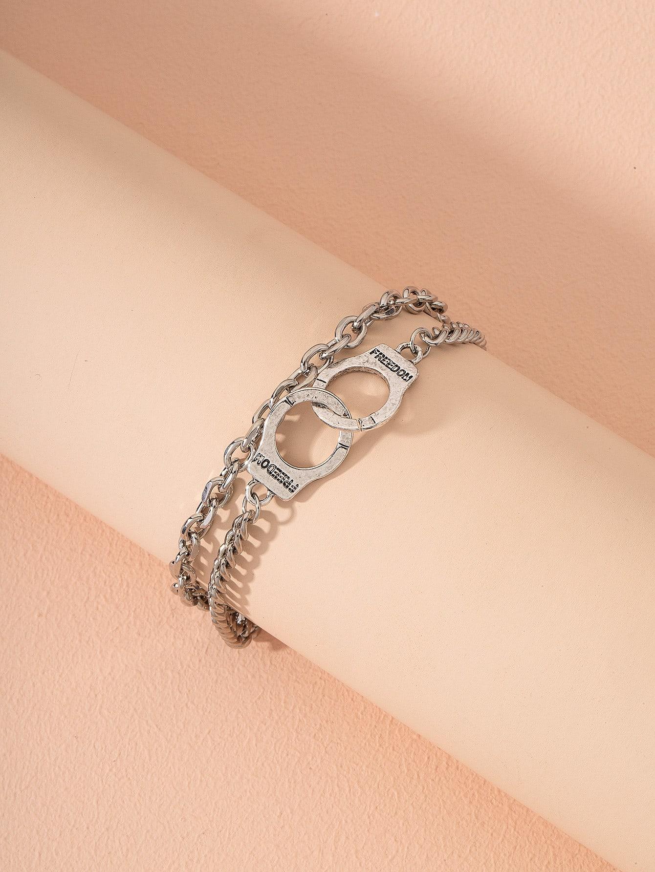 Handcuff Detail Layered Bracelet thumbnail