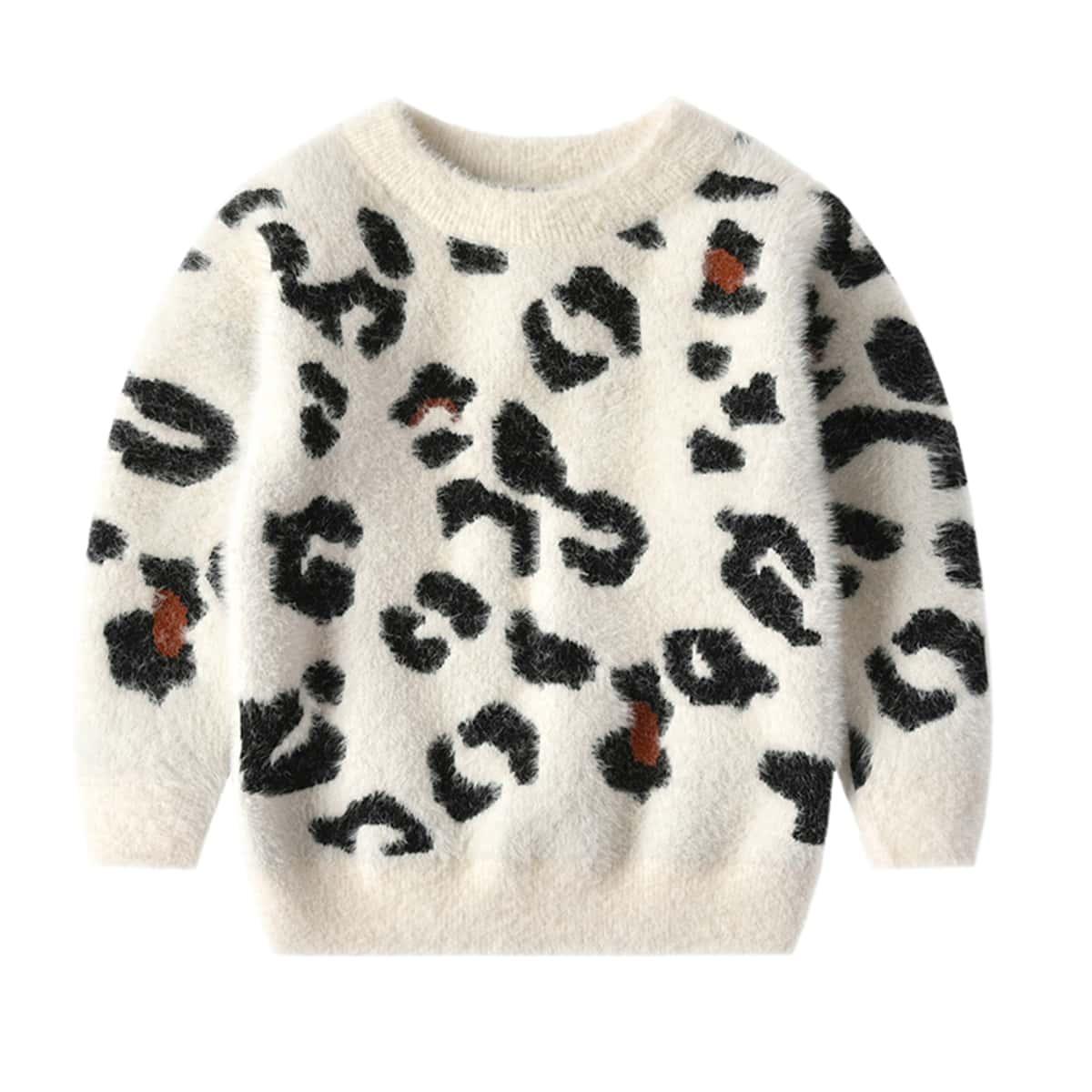Принт повседневный свитера для девочек
