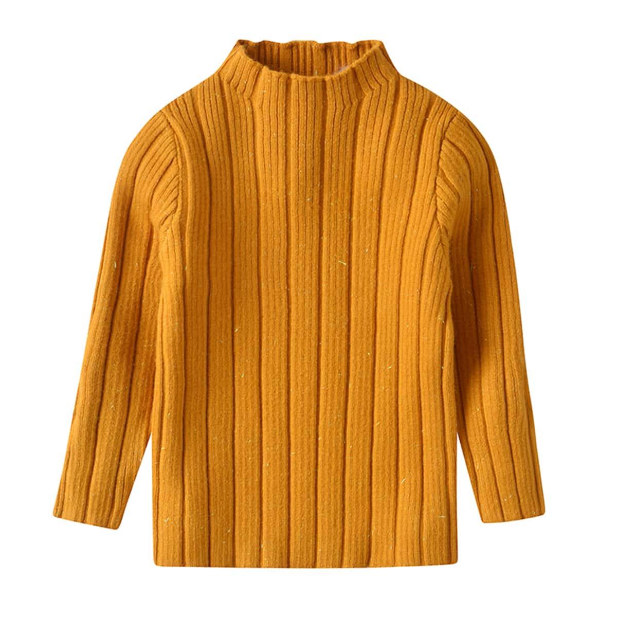 Трикотажный одноцветный повседневный свитеры  для малышей
