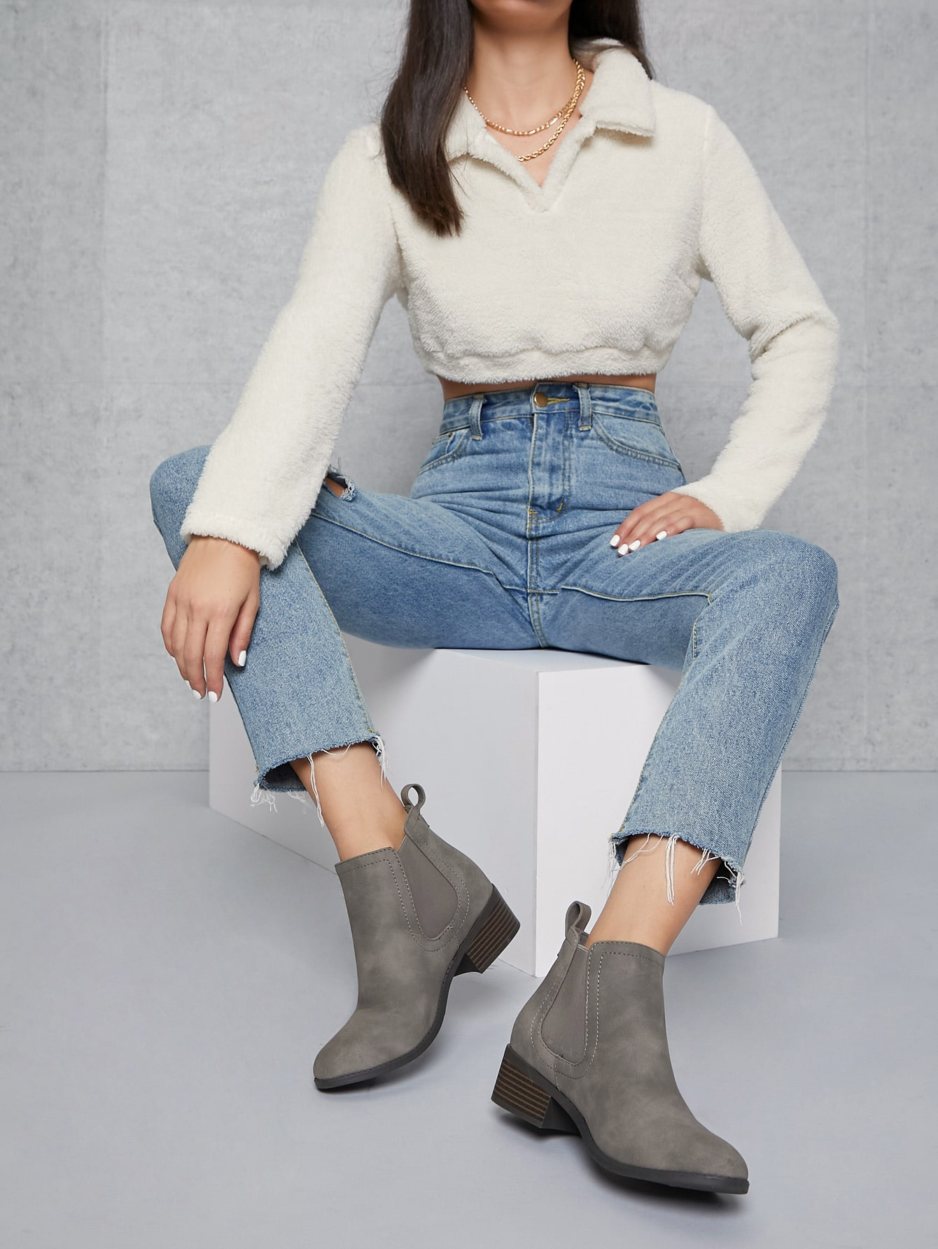 Faux Leather  Ankle Chelsea Boots thumbnail