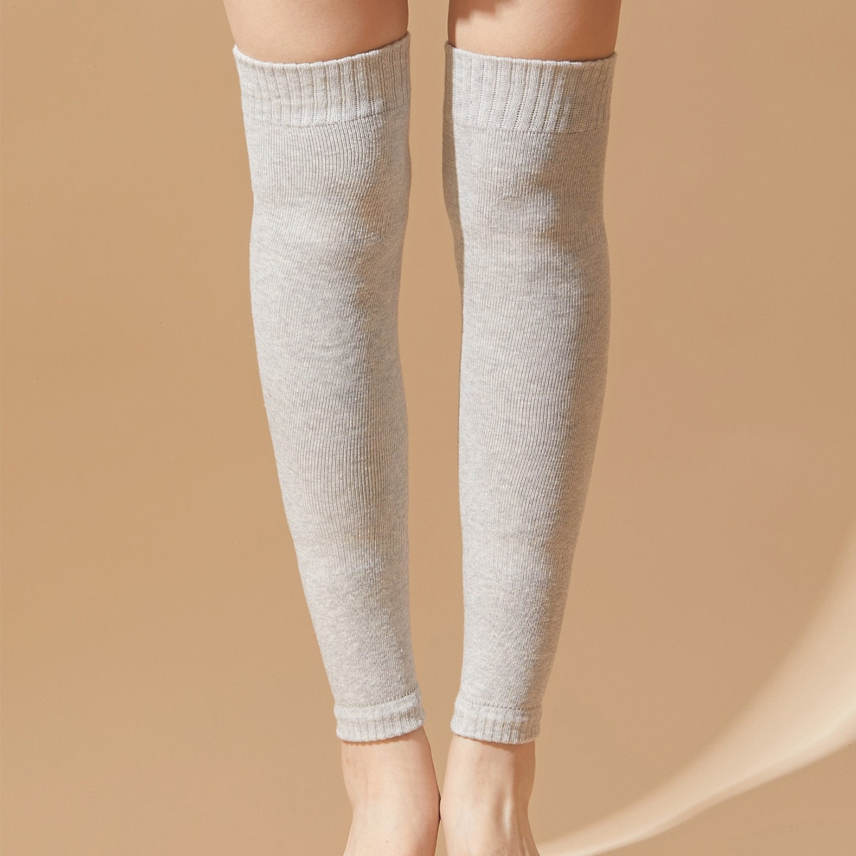 1pair Plain Over The Knee Leg Warmers