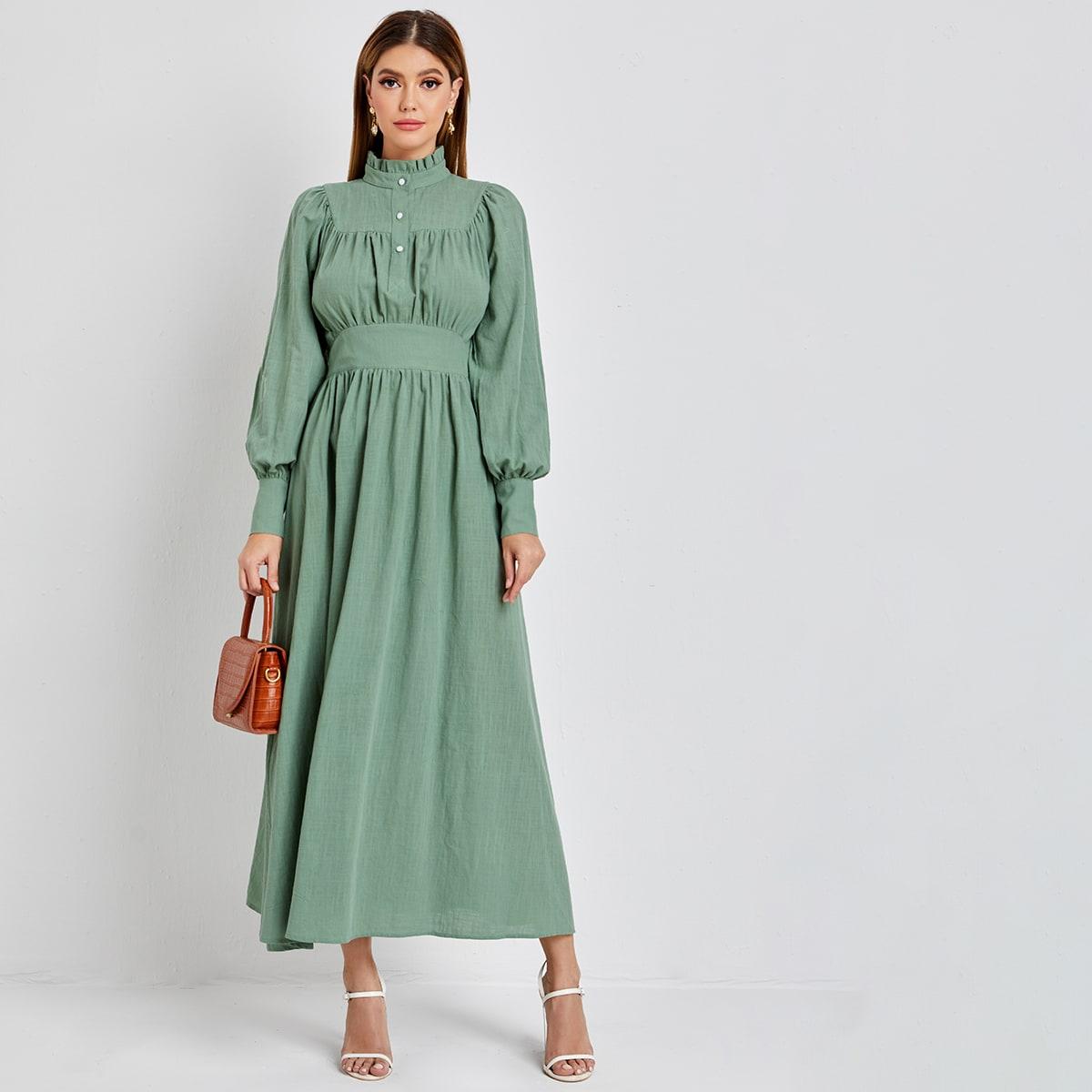 Оборка одноцветный элегантный арабская одежда