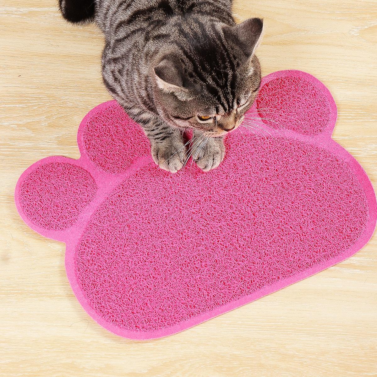 Paw Shaped Cat Litter Mat