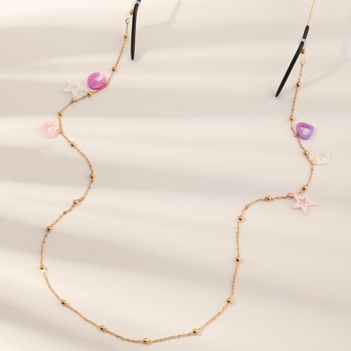 Girls Star Decor Glasses Chain