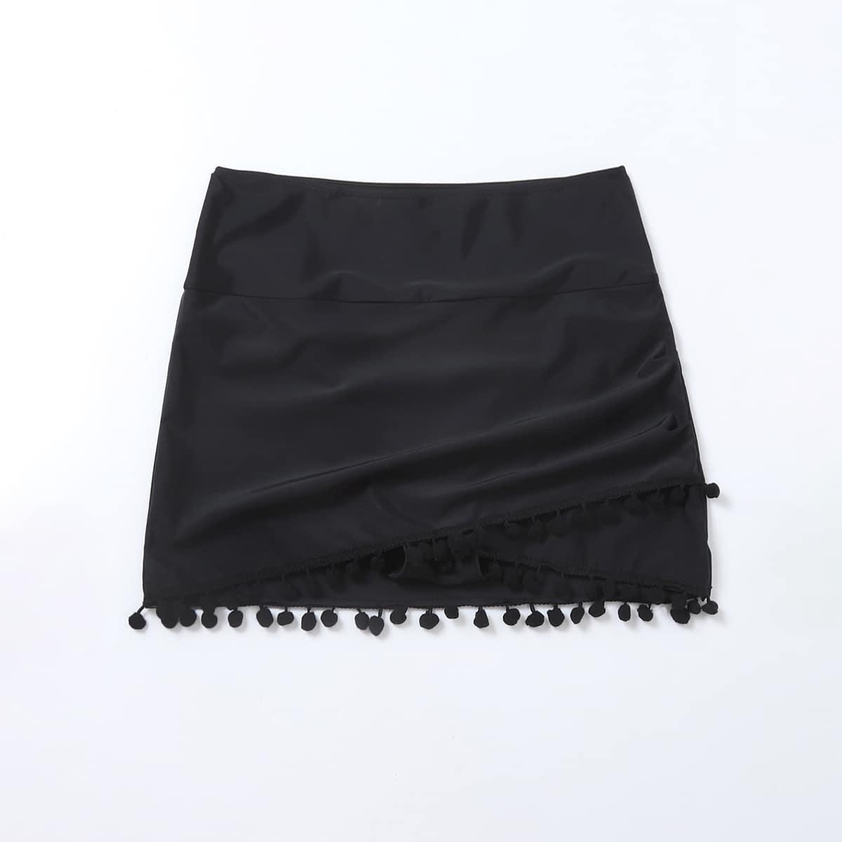 Пляжная юбка с помпоном