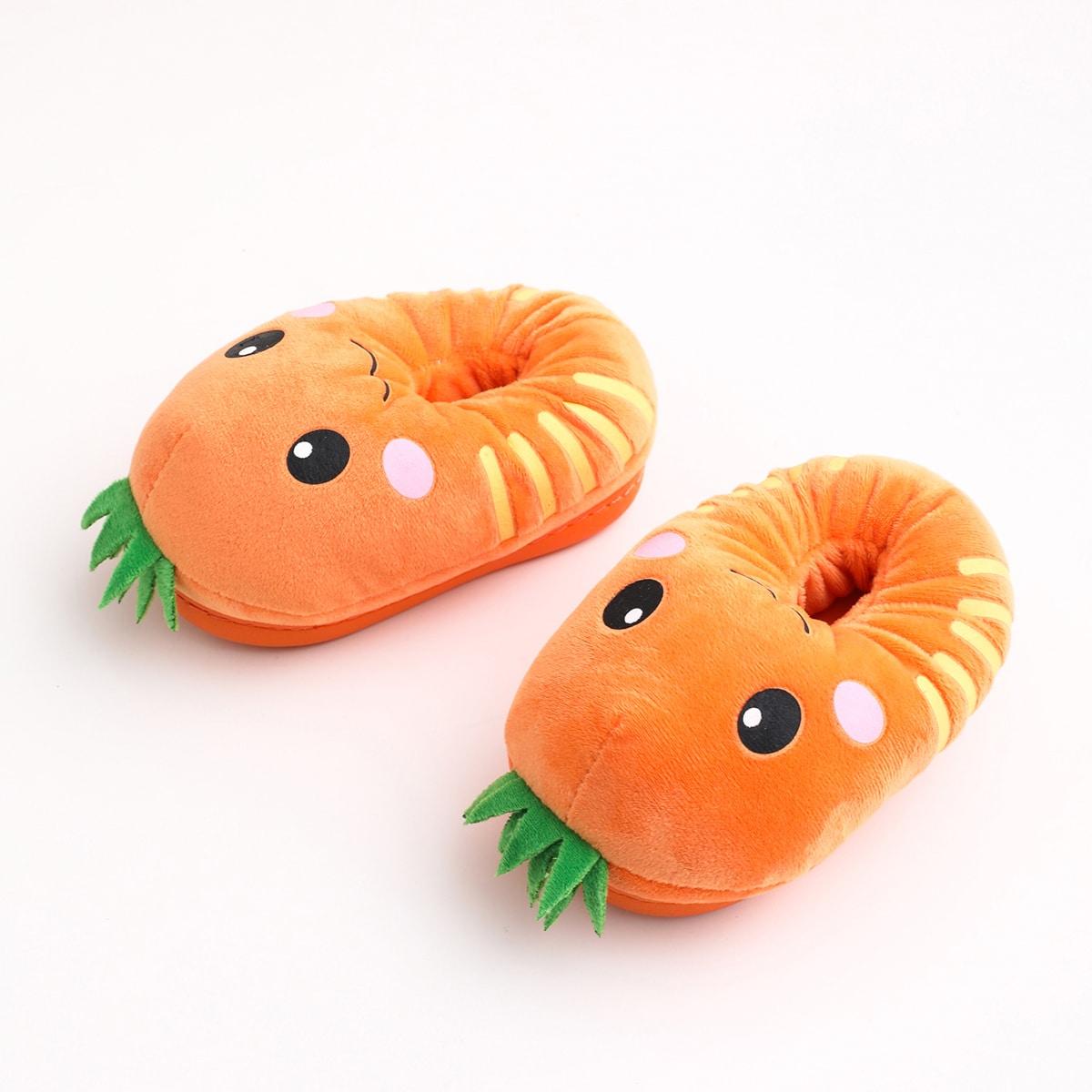Тапочки в фруктовой форме для девочек