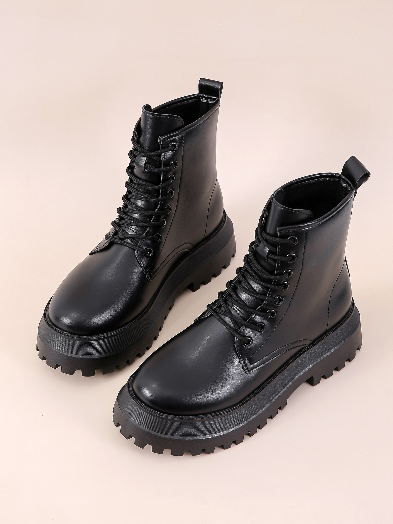 Lace Up Front Combat Boots