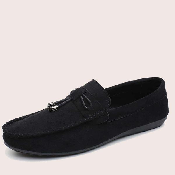 Men Slip On Suede Loafers, Black