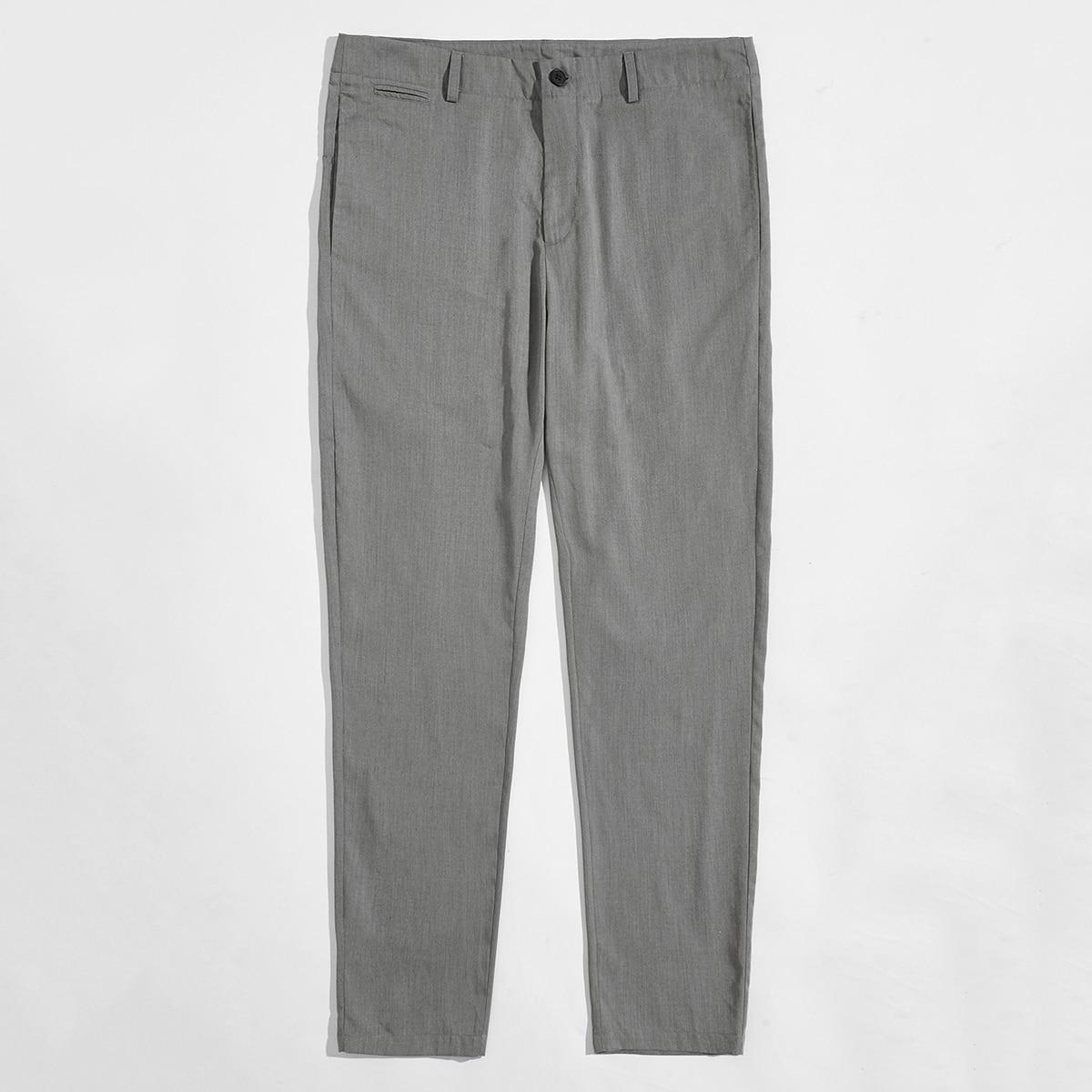 Пугавица одноцветный работа мужские брюки