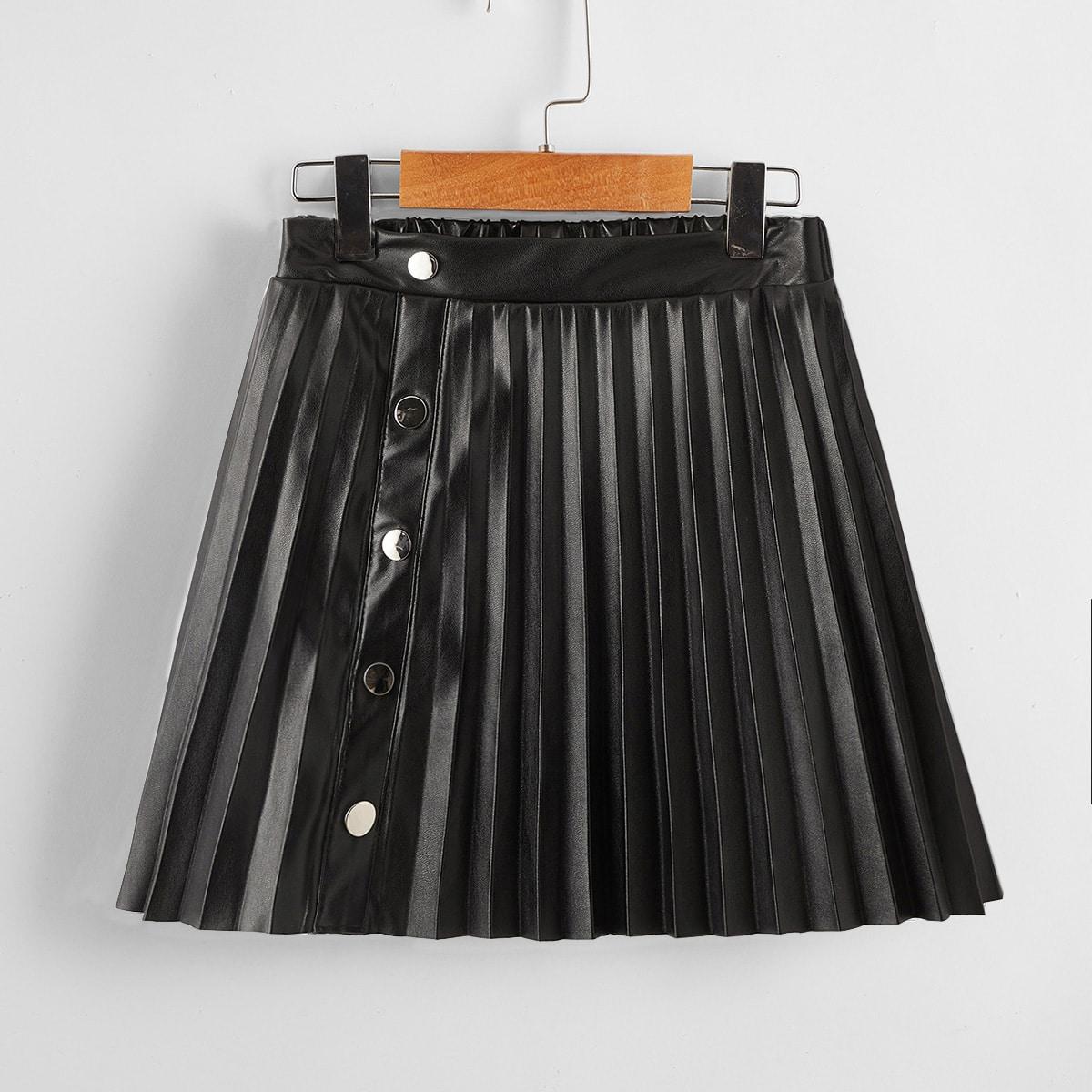Плиссированное одноцветный очаровательный юбки для девочек