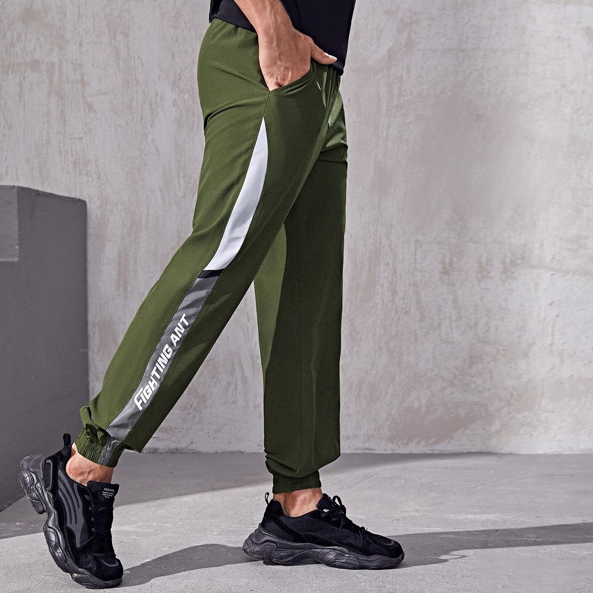Мужские спортивные брюки с узором в виде алфавита