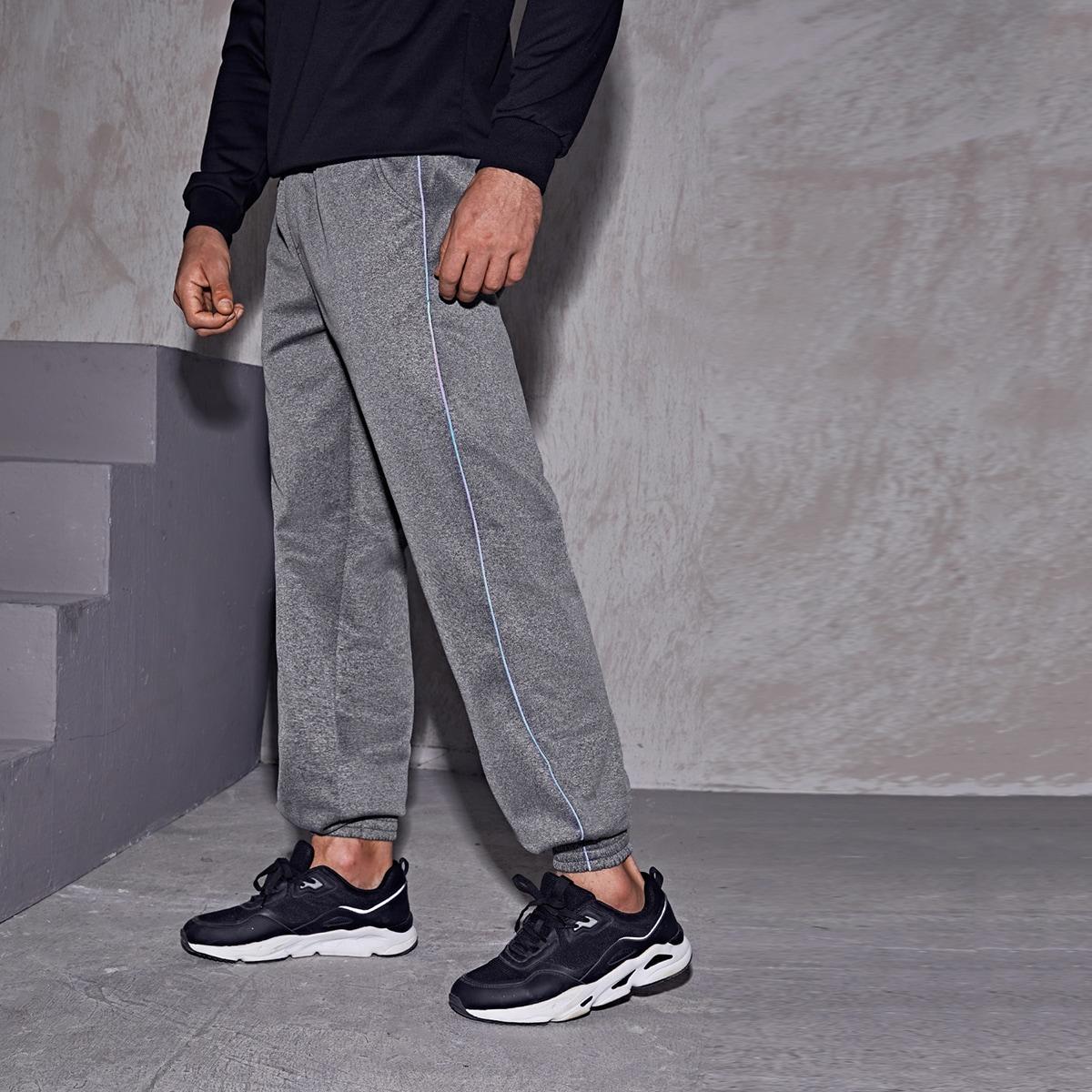 Мужские укороченные спортивные брюки с тесьмой