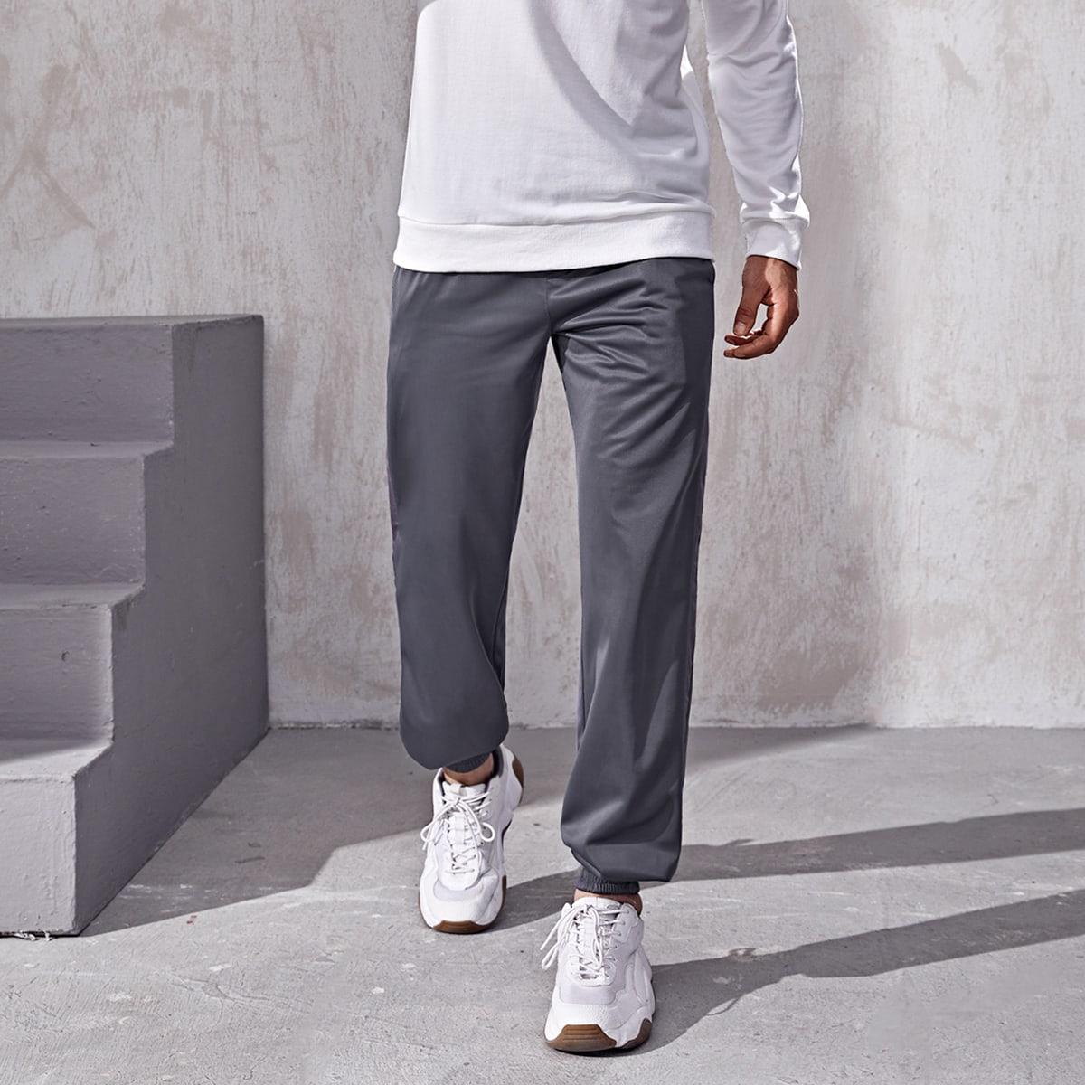 Мужские спортивные штаны с косым карманом