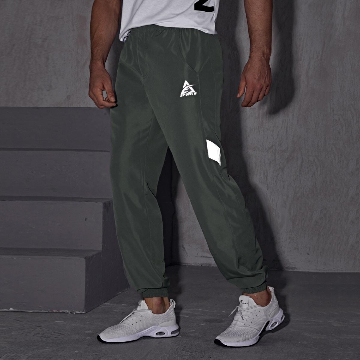 Мужские спортивные штаны со светоотражающими буквами