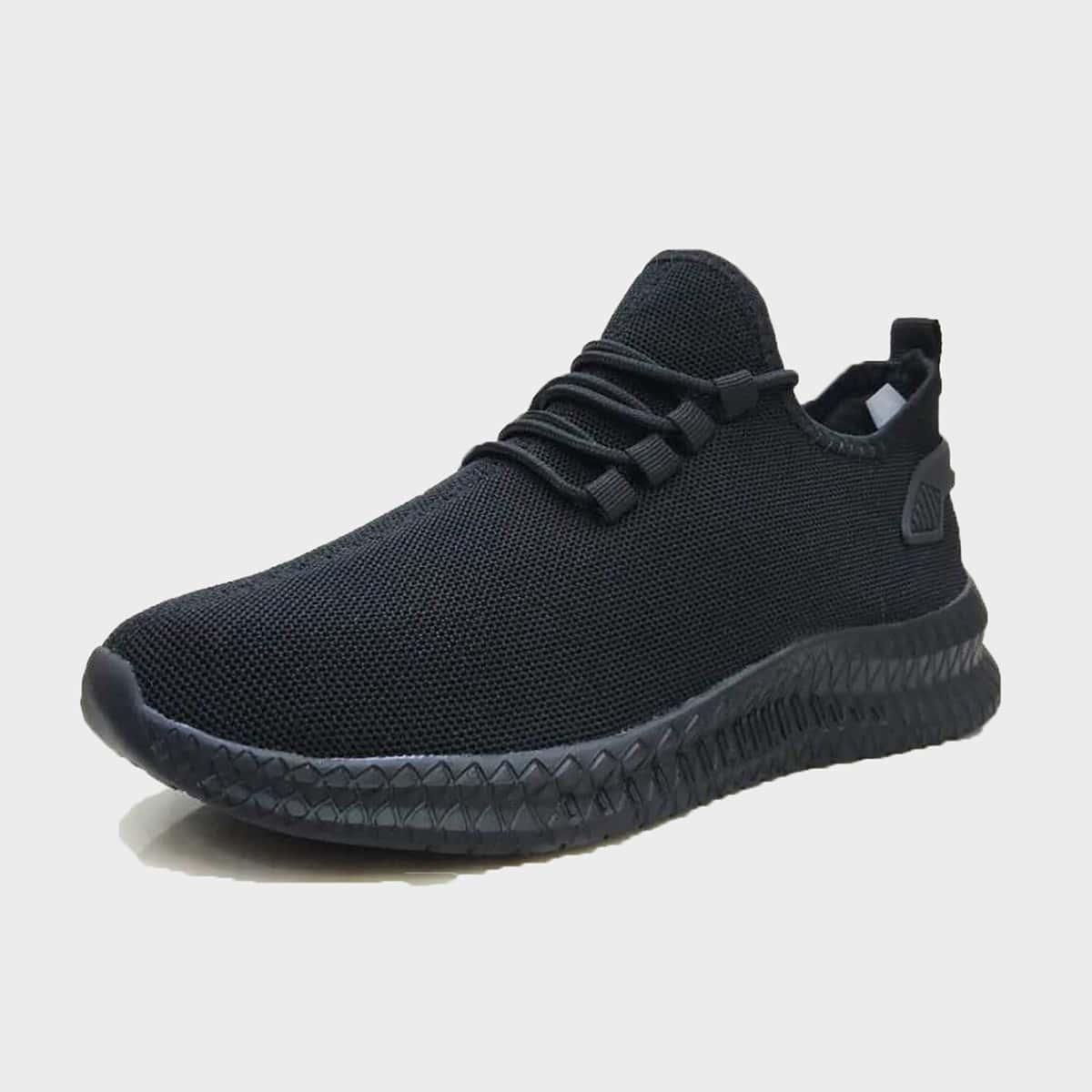 Мужские трикотажные кроссовки на шнурках