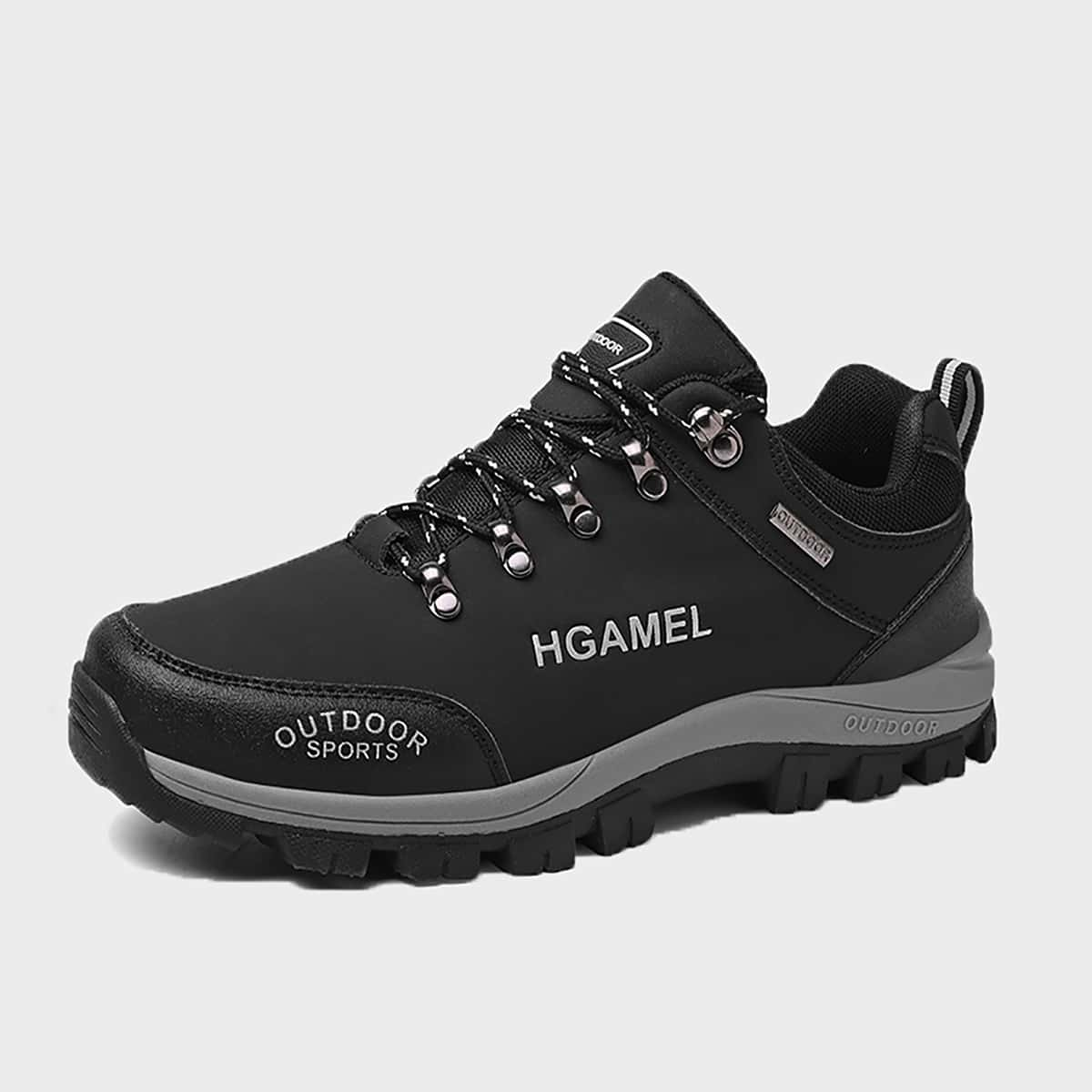 Мужские походные туфли с текстовым принтом