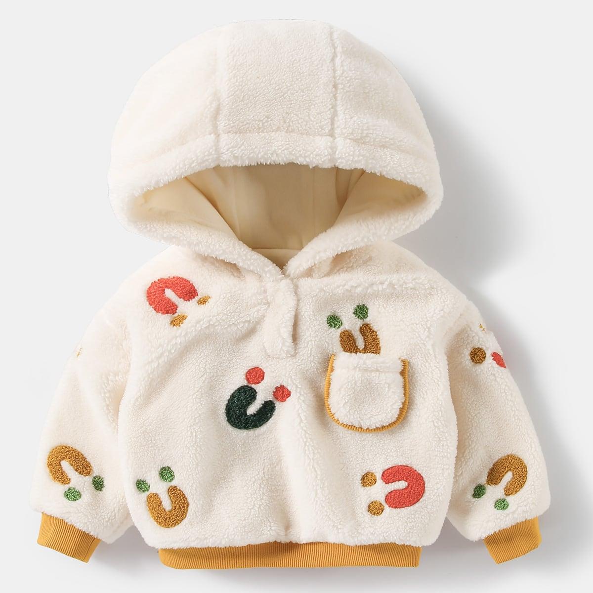 С карманами мультяшный принт повседневный свитшоты для малышей