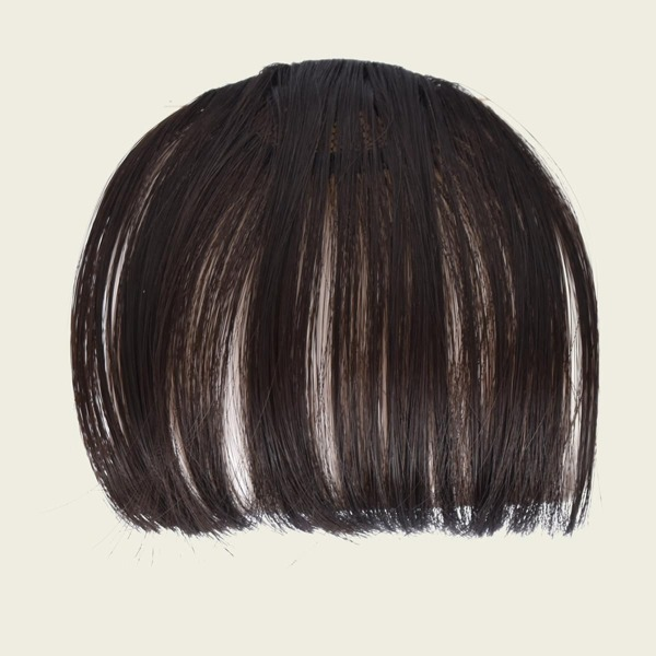 Clip In Front Bangs Without Sideburns, Brown