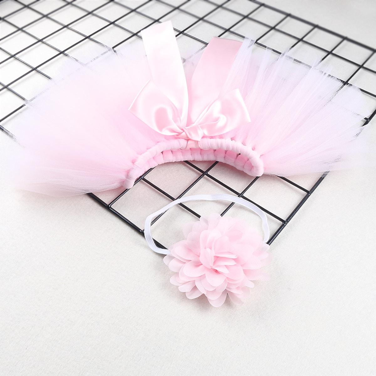 Newborn Girl Tutu Skirt & Headband Photo Outfit