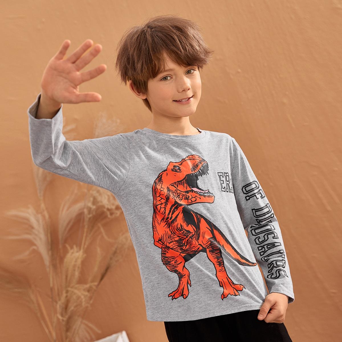 С карикатурой повседневный футболки для мальчиков