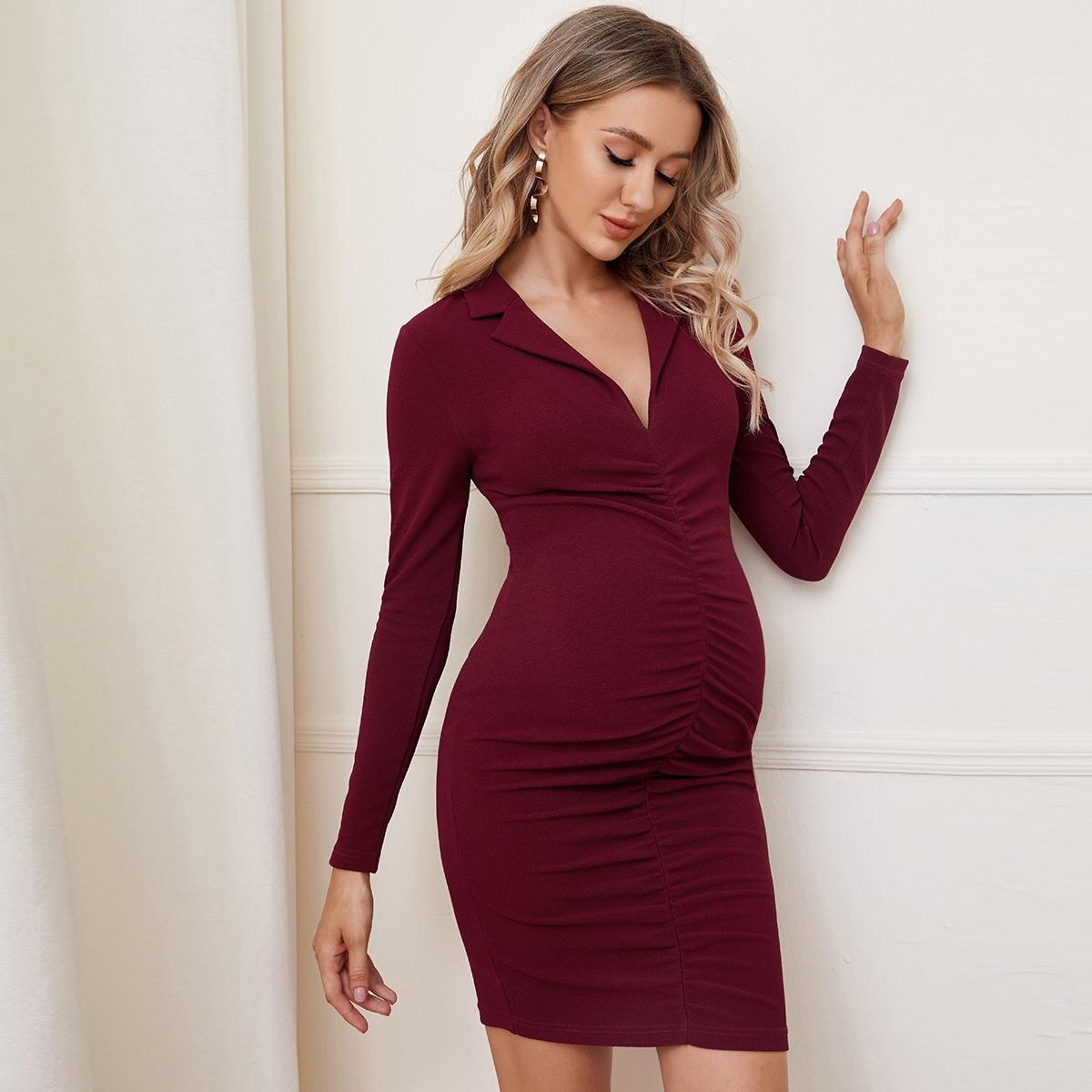 Платье для беременных со сборками