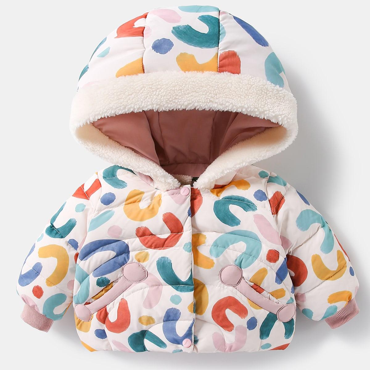 Пуговица принт милый пальто  для малышей
