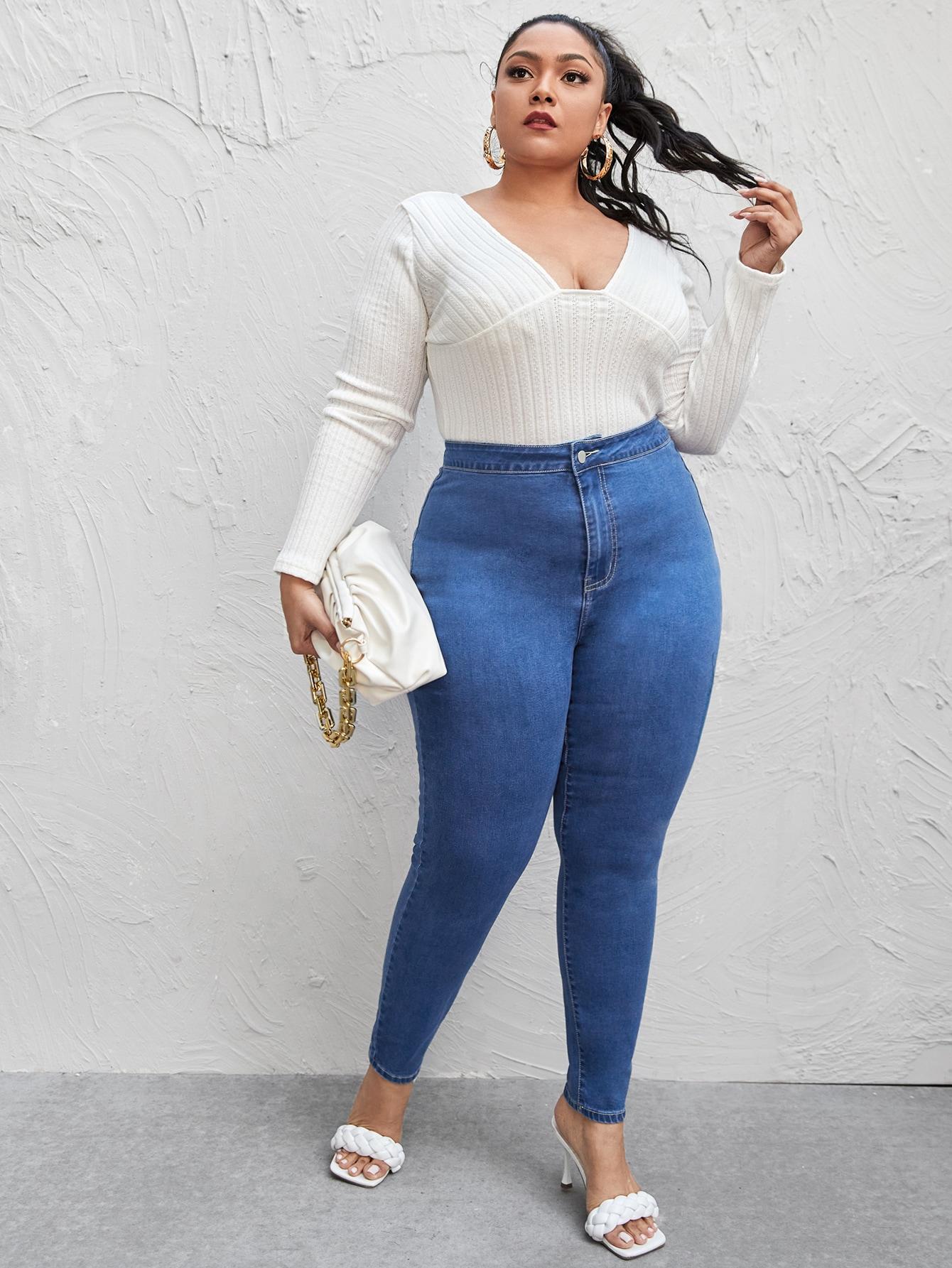 Plus High Waist Skinny Jeans thumbnail