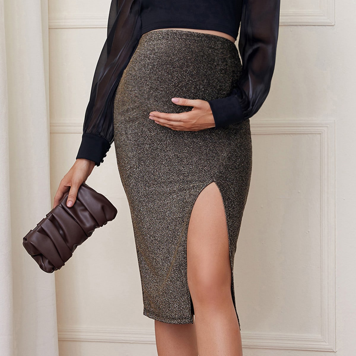Разрез очаровательный юбки для беременных