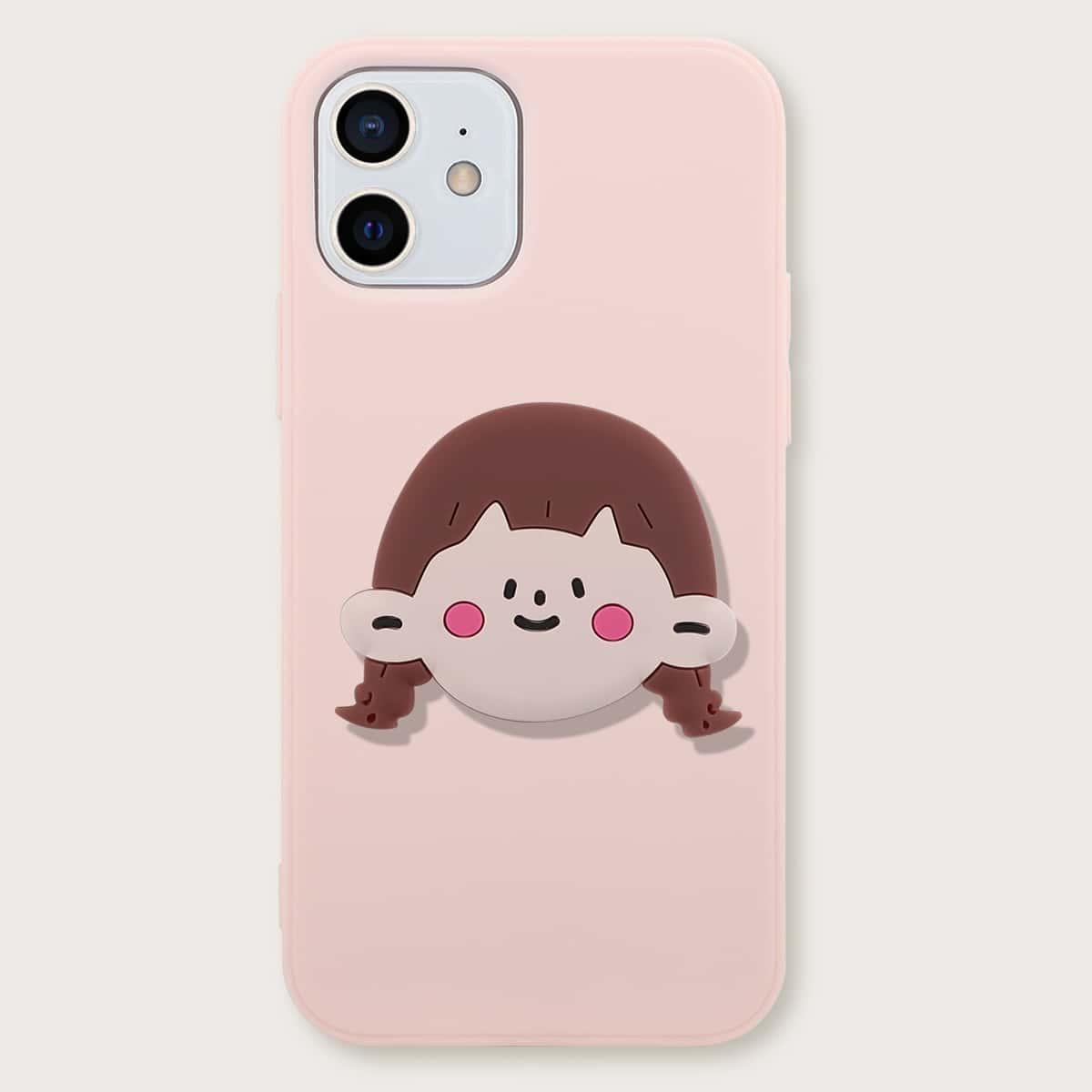 iPhone Hülle & Handyhalter mit Mädchen Design