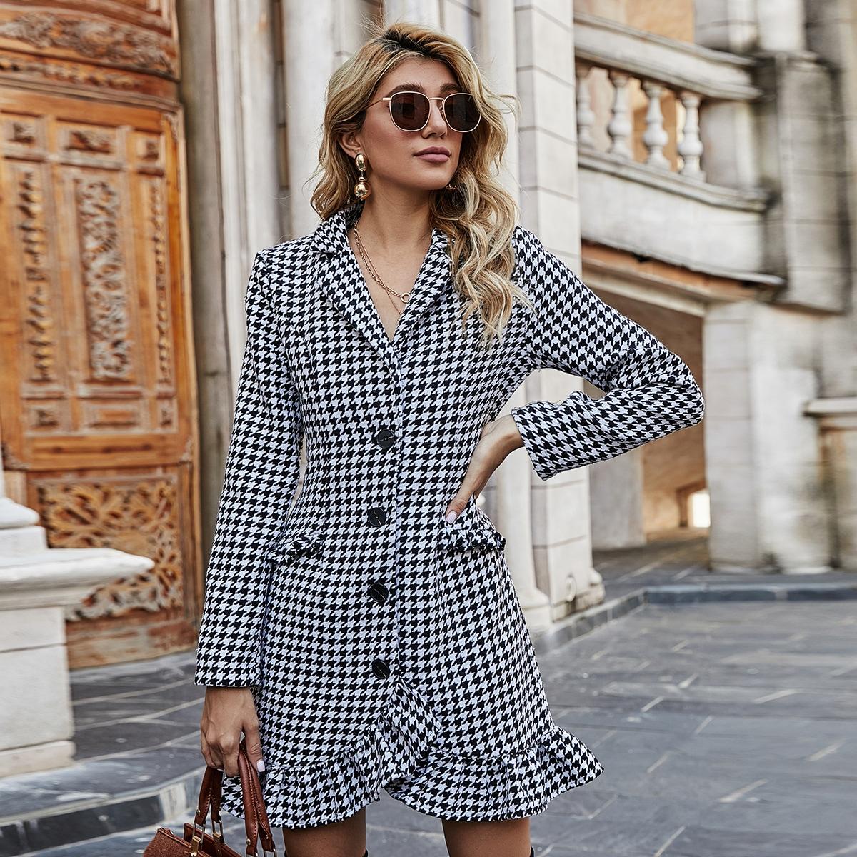 Платье-пиджак с узором