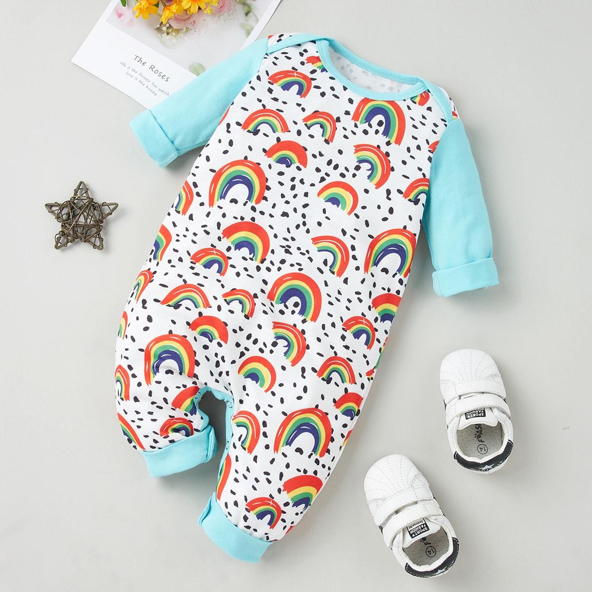 Контрастный цвет повседневный комбинезоны для малышей