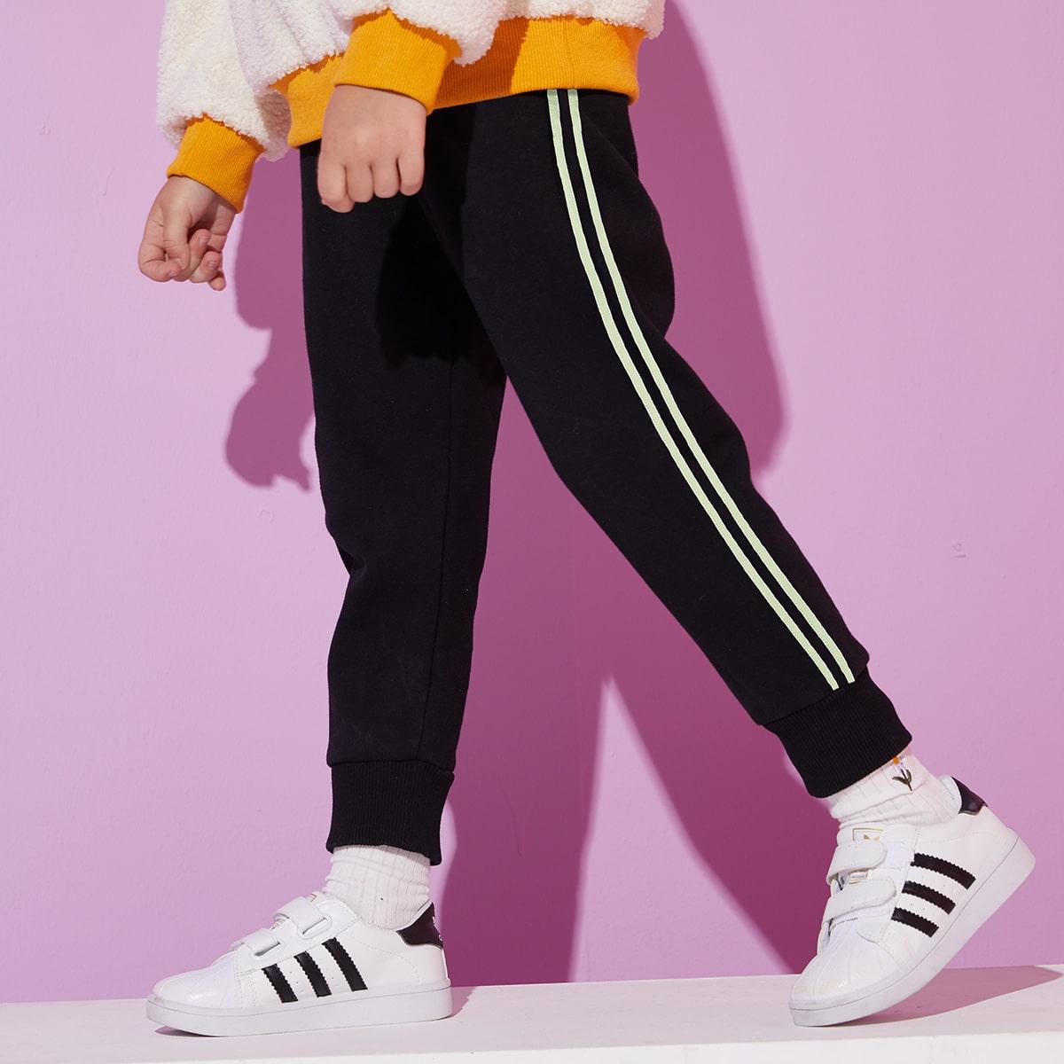 Лента полосатый спортивный брюки для девочек