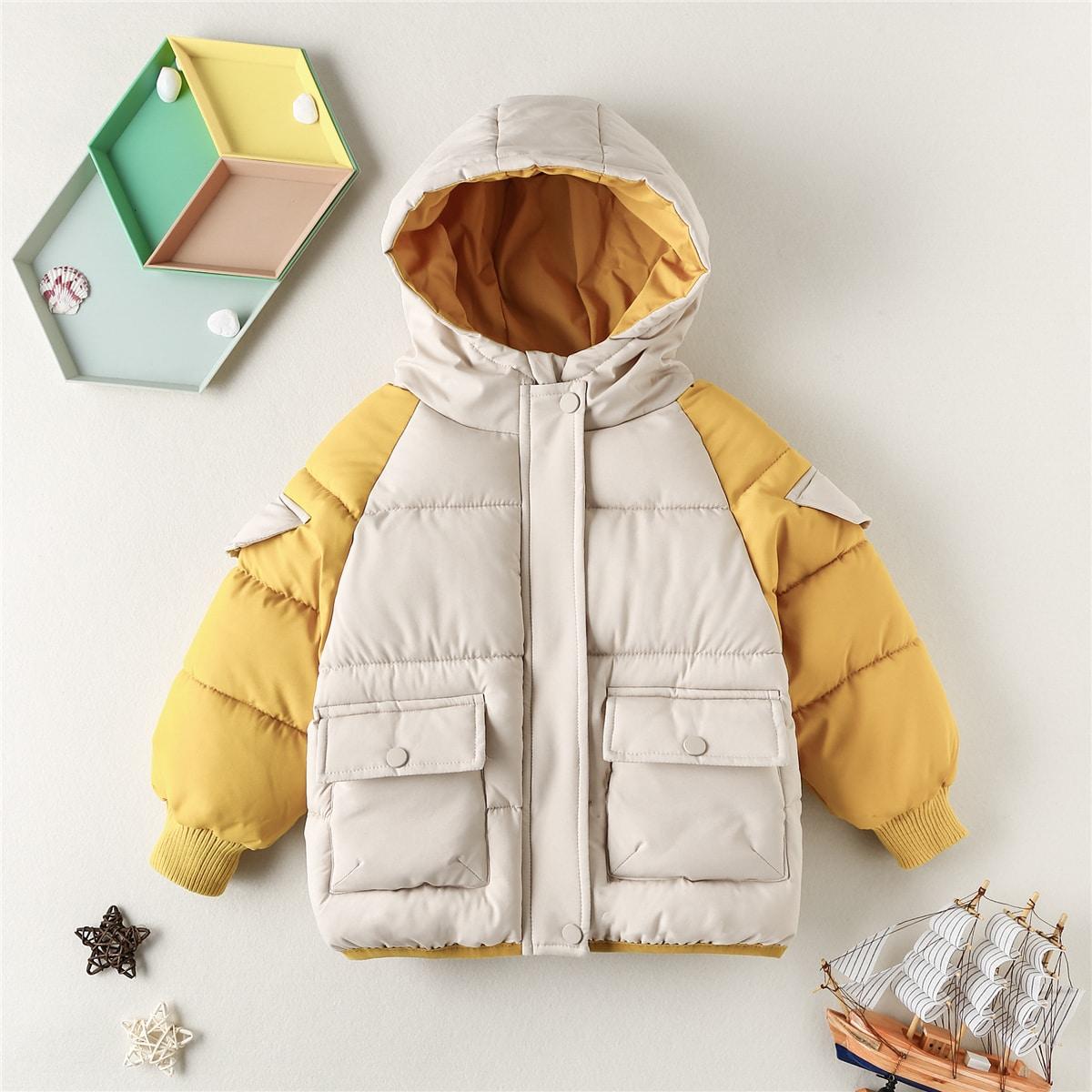 На пуговицах контрастный цвет милый куртки для мальчиков