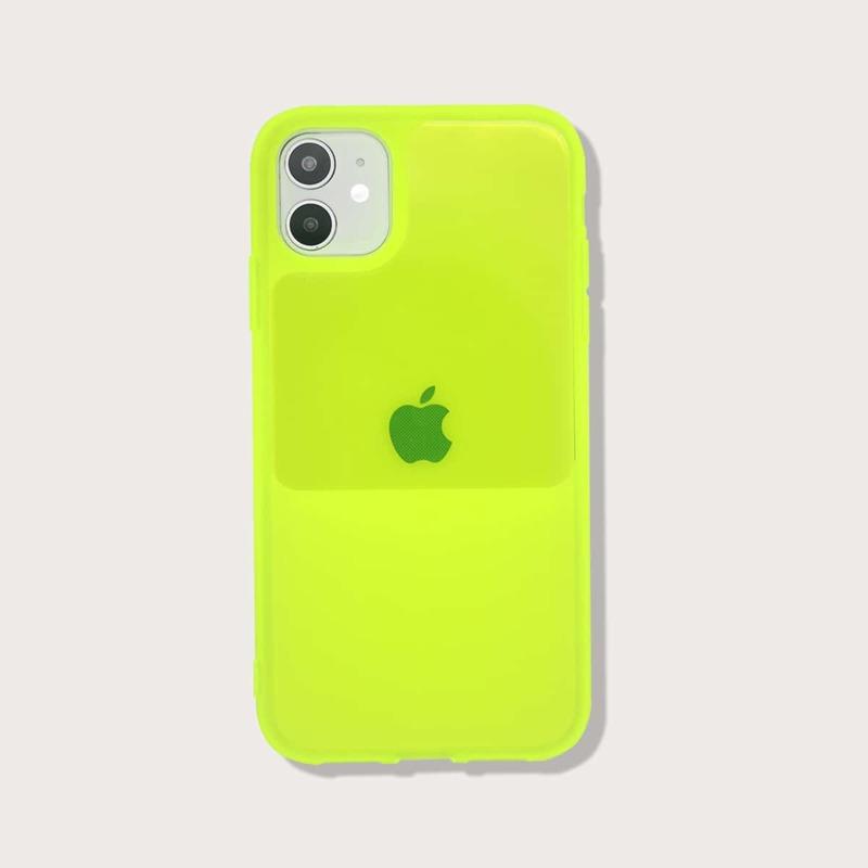 Solid Neon iPhone Case, Green neon