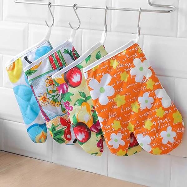 1pc Random Pattern Insulation Glove, Multicolor